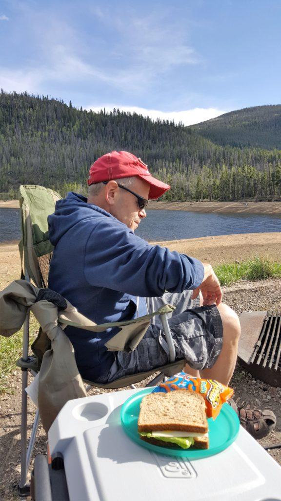 Dave camping at Lake Granby